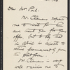 Lyon, Isabel V., ALS to [James Burton] Pond. Mar. 31, 1906. Previously to Mrs [J. B.] Pond.