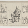 """""""Boss"""" Tweed in court yesterday. 1-Waiting in the Court-room. 2-The """"Boss"""" on the witness-stand. 3.-The crowd. 4. Leaving the court-room. 5. The return to the """"Island""""-scene at the ferry."""