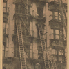 Theburned five-story tenement at 210 West 103d Street