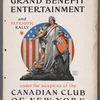 Program Booklet for Grand Benefit Entertainment and Patriotic Rally under the auspices of the Canadian of New York at the Hippodrome