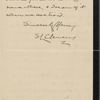 Besant, Sir Walter, ALS to. Feb. 22, 1898.