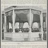 Milano.--L'inaugurazione della Torre Umberto I.--Il palco reale: Parle il sindaco ponti.