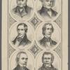 [Clockwise from upper right:] Van Buren. Tyler. Taylor. Polk. Harrison. J.Q. Adams.