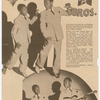 "Images of the Nicholas Brothers dance team from the ""Cotton Club Parade"" program, circa 1938."