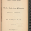 Cleveland, Akron & Columbus Railway Company. Annual report of the president and directors to the stockholders, v. 4-10, 12-18 (1889/90-1895/96) (1897/98-1904)