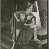 Katharine Hepburn in the stage production The Warrior's Husband.