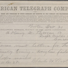 "Slack, Charles W., Telegram to ""Henry D. Thoreau or Ralph Waldo Emerson."" Oct. 31, 1859."