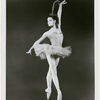 """Melissa Hayden posing in costume as the firebird in George Balanchine's production of """"The Firebird""""."""