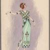 Woman's costume: Long green dress, 1