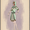 Woman's costume: Short green skirt, 1