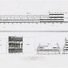 Schematic drawing of an English slave ship, possibly the Brookes, showing the layout of the cargo hold areas for transporting African slaves