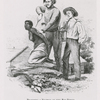 """Slave traders branding an African woman at the Rio Pongo (in Guinea, West Africa). Taken from """"Captain Canot, Twenty Years of an African Slaver,"""" published 1854"""