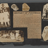 Scrapbook page consisting of snapshots of George Brashear and acquaintances, and a newspaper article on the history of inter-collegiate football, circa 1917