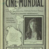 Cover of motion picture magazine Cine-Mundial, January, 1916 featuring inset image of actress Anita Stewart