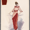 Woman's costume design and fabric pieces