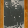 Group portrait of New York City firefighter Wesley A. Williams (right) with his father James H. Williams (left), grandfather John Wesley Williams (2nd from left) and son James H. Williams II (in front).