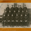 New York City fire fighter Wesley A. Williams (second row, far right) in group portrait with other fire fighters after his appointment to the New York City Fire Department