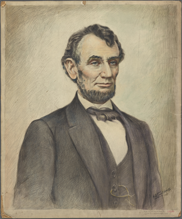 This is What Abraham Lincoln and Saint-Amand, H.A. Looked Like  in 1934