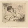 Young Negro Drawing