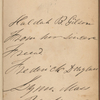 Inscription by Frederick Douglass to Huldah B. Gilson, dated April 29, 1847.