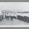 "Gosudar Imperator c Naslednikom Tsessarevichem i drugimi chlenami Imperatorskoi Familii na bortu lineinago Korablia ""Imperatritsa Mariia"" na Sevastopol'skom Reide v 1916 godu."
