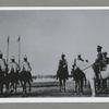 Gosudar Imperator na Marsovom Pole na smotru kavalerii v 1914 godu.Prokhodit mimo L. Gv. Gusarskii Ego Velichestva polk.