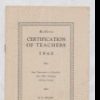 Certification of Teachers