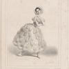 Melle Fanny Elssler dans le ballet de La chatte métamorphosée en femme. [Lithograph by M. Alophe].