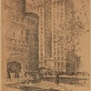 Thirty-fourth street and Park Avenue--Seventy-first Regiment Armory and the Vanderbilt Hotel. After a drawing by Louis H. Ruyl