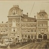 Grand Central Terminal; horse drawn streetcars and cabs; Park Avenue Oyster House