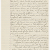 Williams, [Isaiah], Copy of letter to, in hand of Elizabeth Hoar. Mar. 14, 1842.