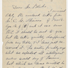 Emerson, R. W., letter to H. G. O. Blake, copy in hand of recipient. Oct. 14, [1877].