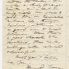 [Thatcher, George A.?], ALS to. Jan. 1, 1858.