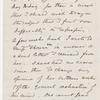Cholmondeley, Reginald, ALS to [unknown correspondent]. Mar. 4, 1866.
