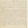 Blake, H. G. O., draft of letter to Sophia Thoreau, notes about disposition of HDT's letters. Nov. 22, 1884.