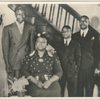 Group portrait of singer Nat King Cole with his mother, Perlina, his younger brother, Ike, and his father, Edward, circa 1940.