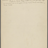 Statement regarding Elinor Glyn. Holograph MS, [1908].