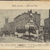 """""""Petroleum is King."""" Origin of parading on Fifth Avenue. This slogan was adopted in competition with """"Cotton is King"""" at the time of the oil discoveries in Pennsylvania. A rare photograph about 1860. The location is about Seventeenth Street and Fifth Avenue"""