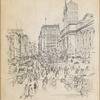 Fifth Avenue at Forty-second Street. New York Public Library at the right