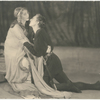 Blanche Yurka (as Gertrude) and John Barrymore (as Hamlet) in Act III, Scene IV of the stage production Hamlet.