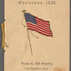 Christmas, 1920, Troop G, 24: Fort Huachuca, Arizona, 10th Cavalry, Christmas