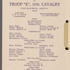 Troop E, 21: Fort Huachuca, Arizona, 10th Cavalry, Christmas