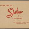 Shalimar Souvenir Photo Holder