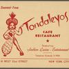 Tondaleyos Cafe Restaurant Souvenir Photo Holder