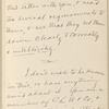 Hall, [Frederick J.], ALS to. Aug. 19, 1886.