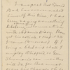 Hall, [Frederick J.], ALS to. May 8, 1893.