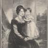 S.M.L. La Reina Victoria de Inglaterra, á los tres años de edad, y su augusta madre La Duquesa de Kent.
