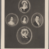 Victoria Mary Louise, Duchess of Kent and four additional portraits, possibly of members of her family.