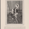 Queen Victoria in 1860 (Age 41 years) and her daughter Victoria, The Princess Royal. From a photograph by Lombardi & Co., London...