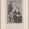 The Queen and The Prince Consort. 1861. From an engraving by W. Hall, after a photograph by Day...